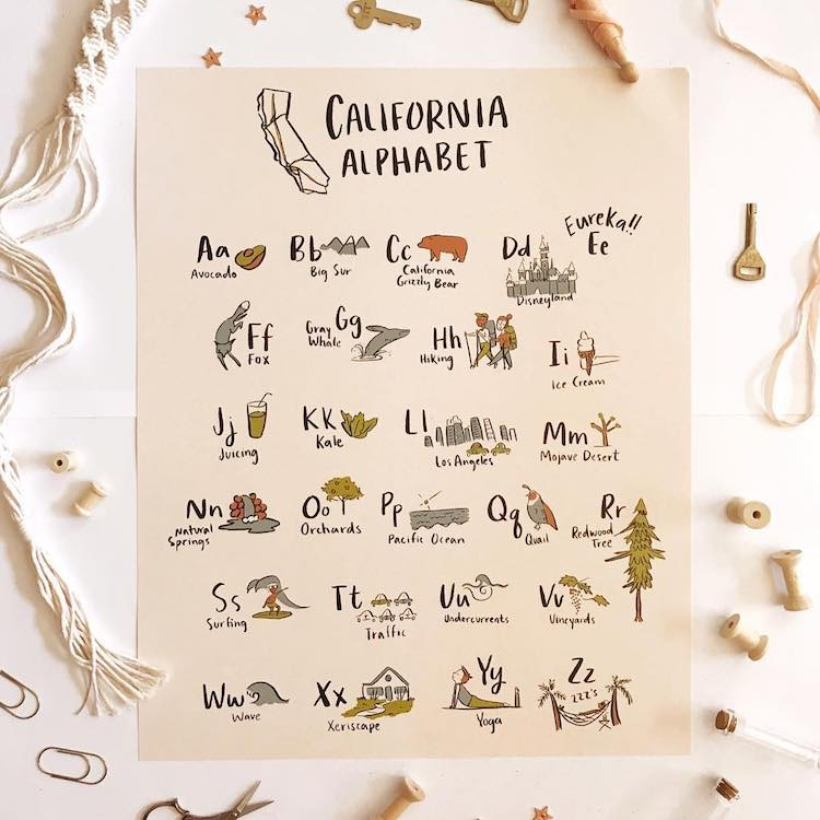 California Alphabet by Abbie Paulhus