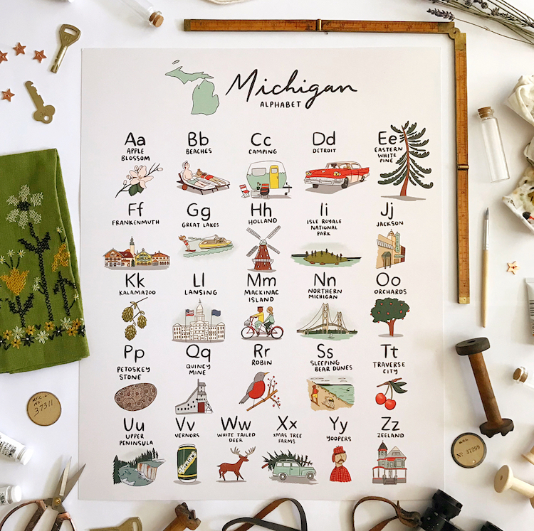Michigan Alphabet by Abbie Paulhus