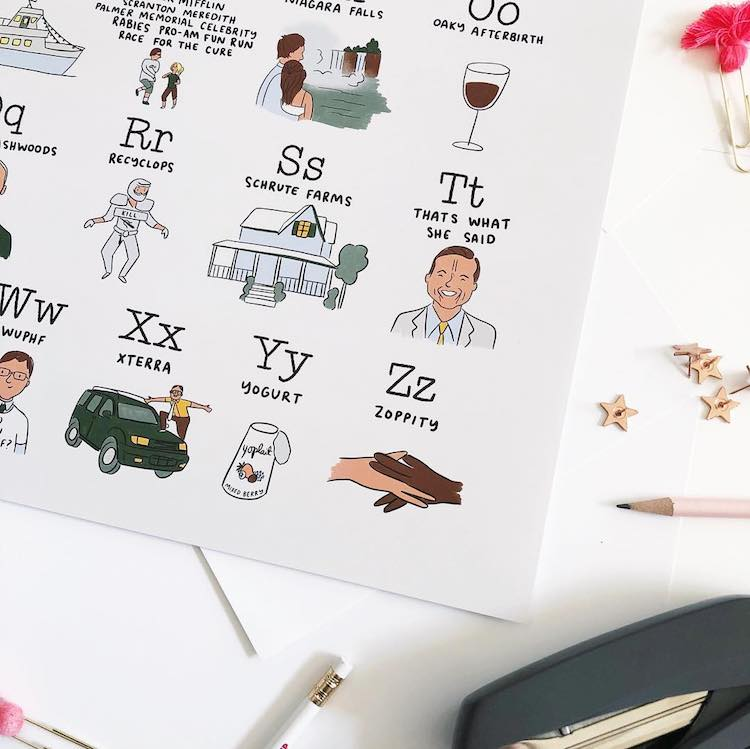 The Office Alphabet by Abbie Paulhus