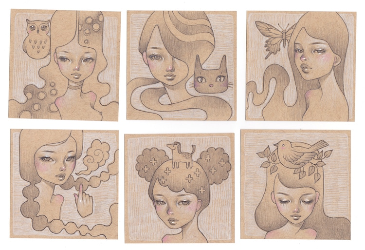 Audrey Kawasaki Giant Robot Post-It Show