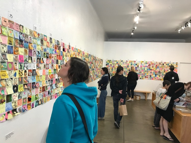 Giant Robot Post-It Show