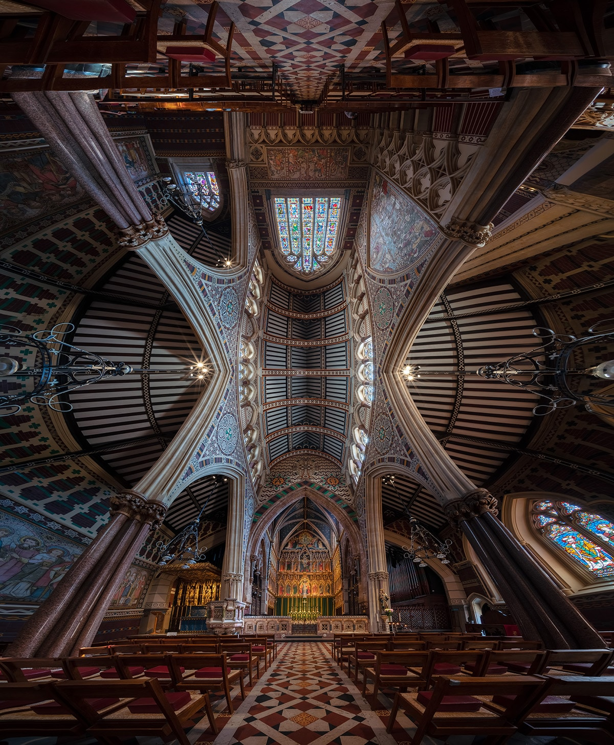 Church interiors by Peter Li