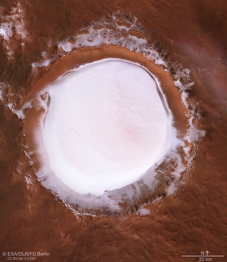 European Space Agency Photo of Ice on Mars