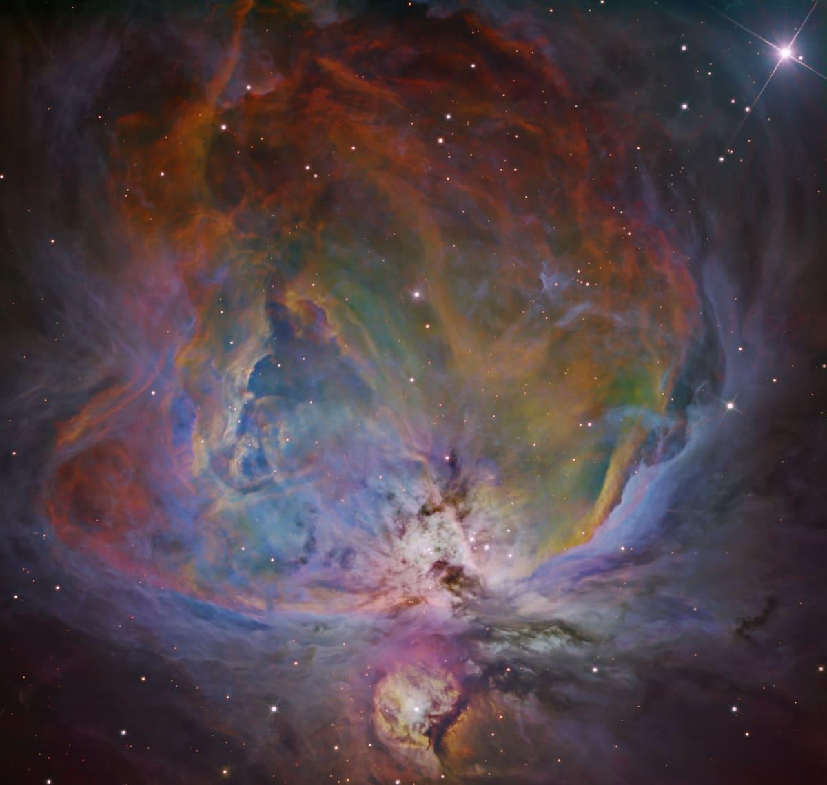 fotografía de la nebulosa de orión