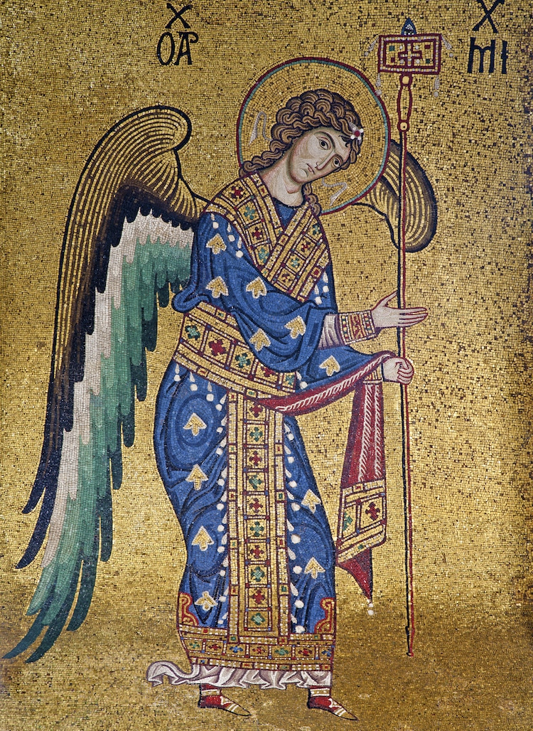 Angel Art Angles Paintings of Angels Byzantine Mosaic