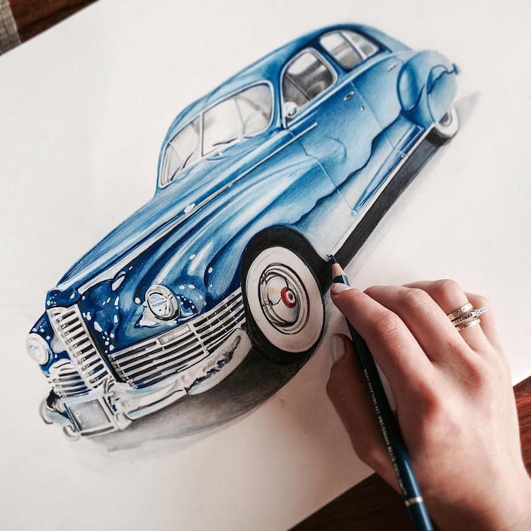 Vibrant Color Pencil Drawings Show Everyday Items in ...