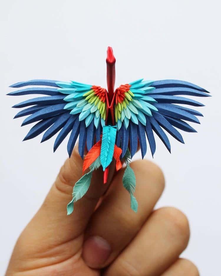 Cristian Marianciuc Icarus Mid Air Paper Cranes Paper Crane Design