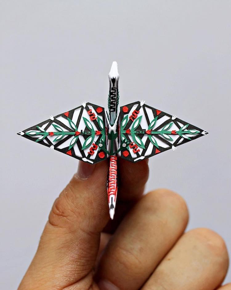 Cristian Marianciuc grulla origami