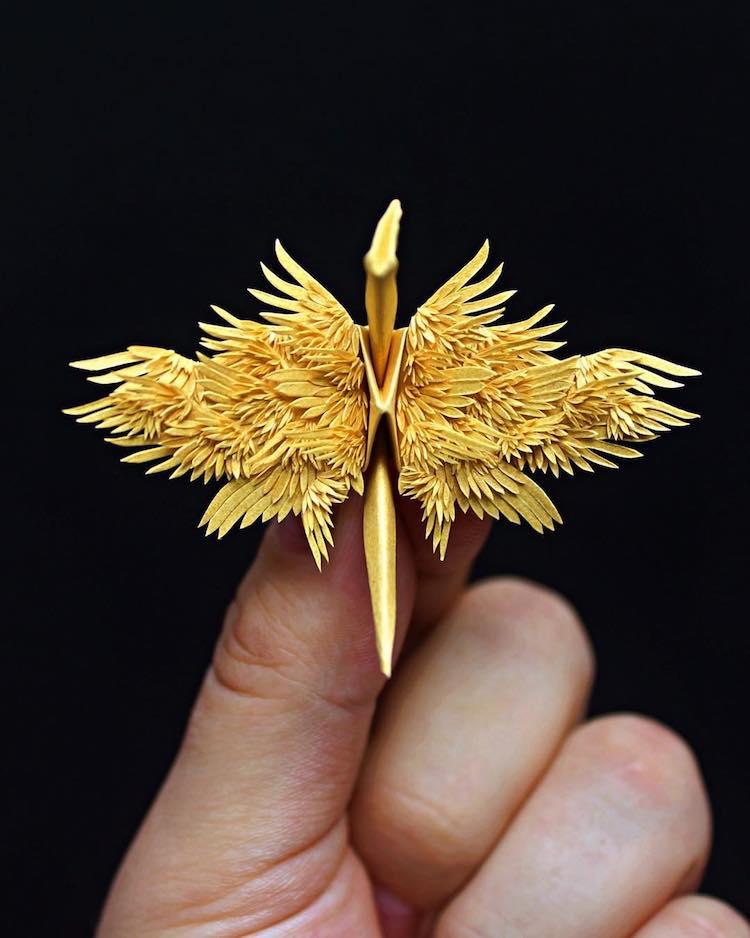 Cristian Marianciuc grulla de origami