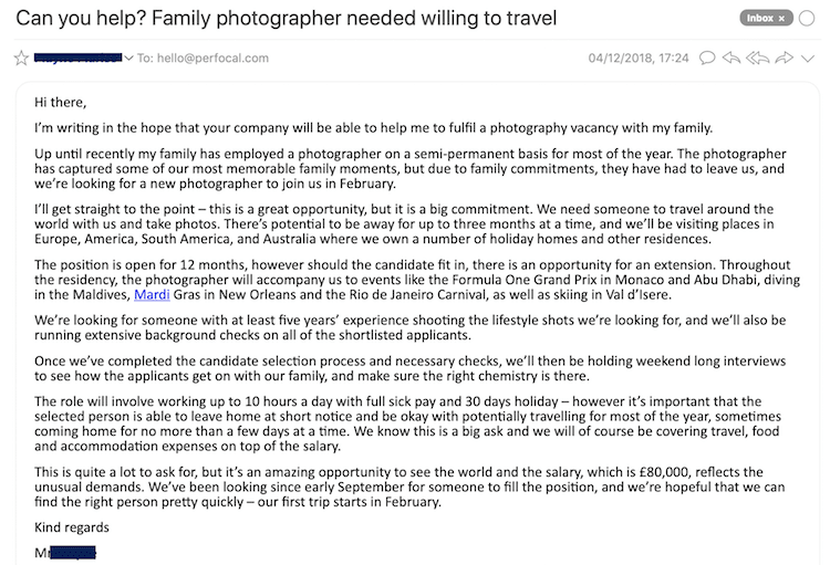 Full Time Traveling Lifestyle Photographer Job Opening