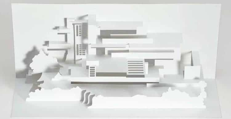 Frank Lloyd Wright Paper Models Architectural Model Kits Frank Lloyd Wright Kirigami