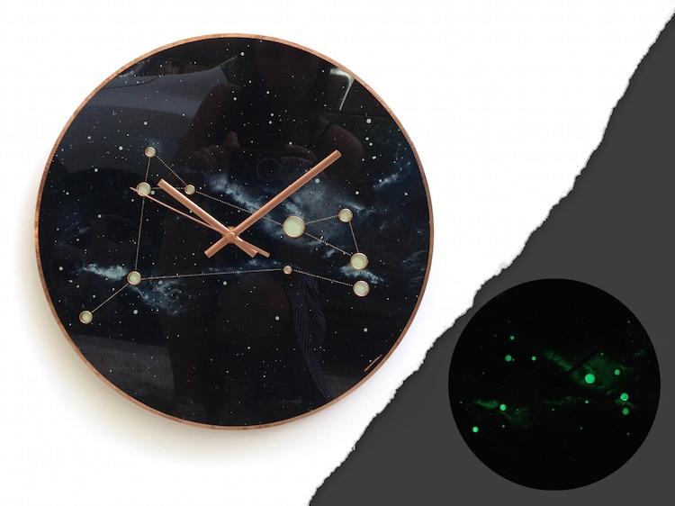 Glass Art Planet Clocks by Milica Dimitrova