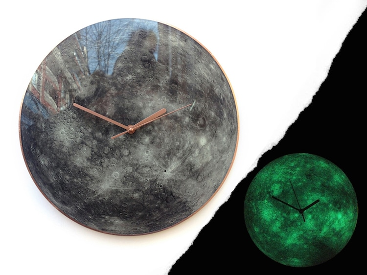 Glow In The Dark Wall Clocks Capture The Beauty Of Our