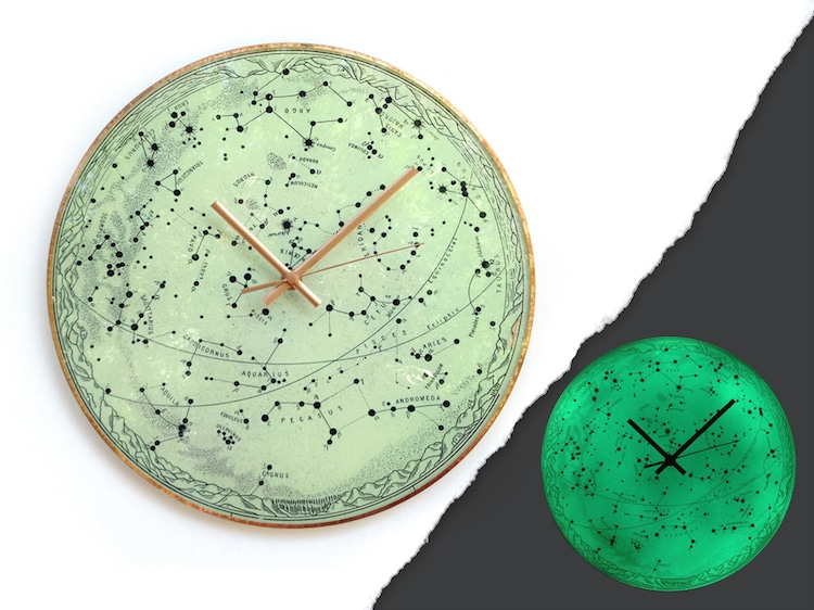 Glass Art Planet Clocks by Milica Dimitrova