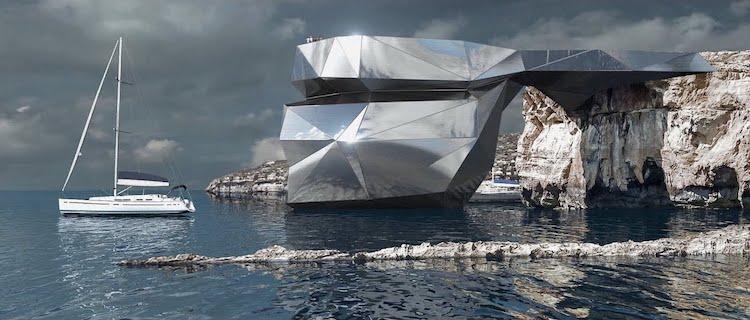 Concepto de Diseño Arquitectónico Ventana Azul Malta