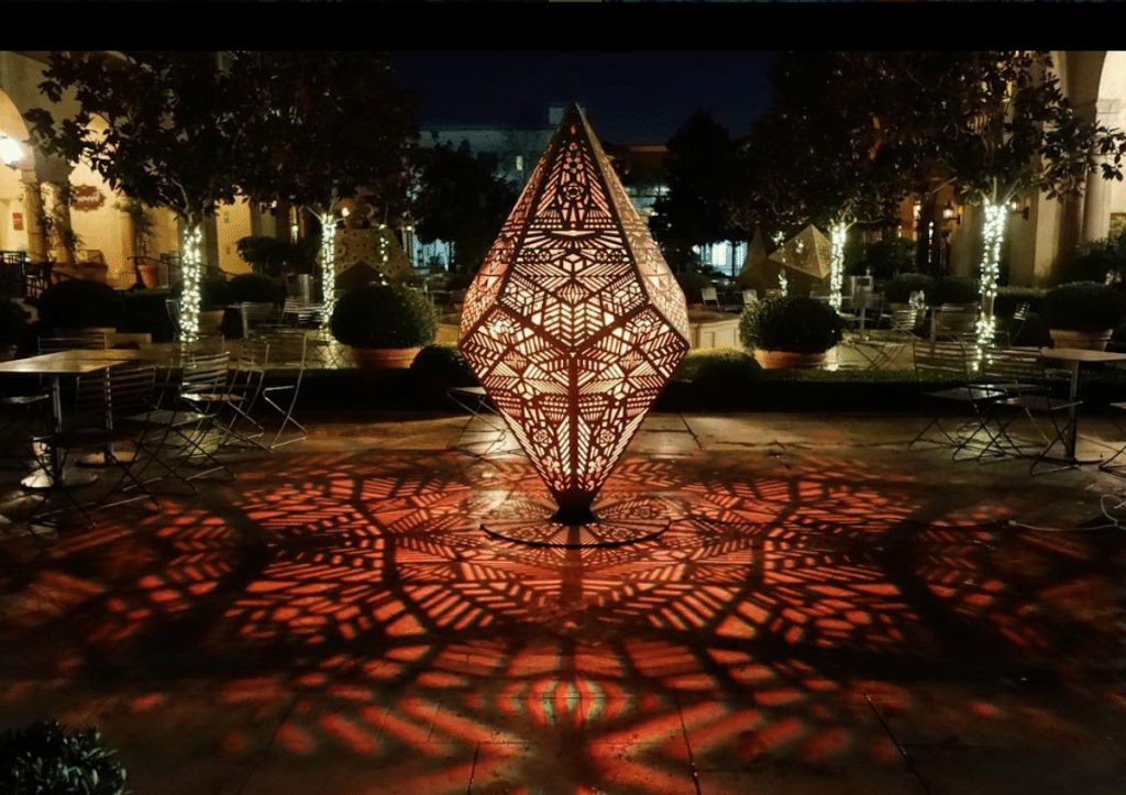 Laser Cut Art Installation by HYBYCOZO