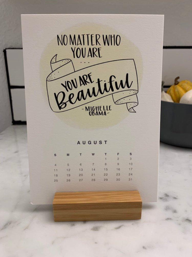 Inspirational 2019 Calendar