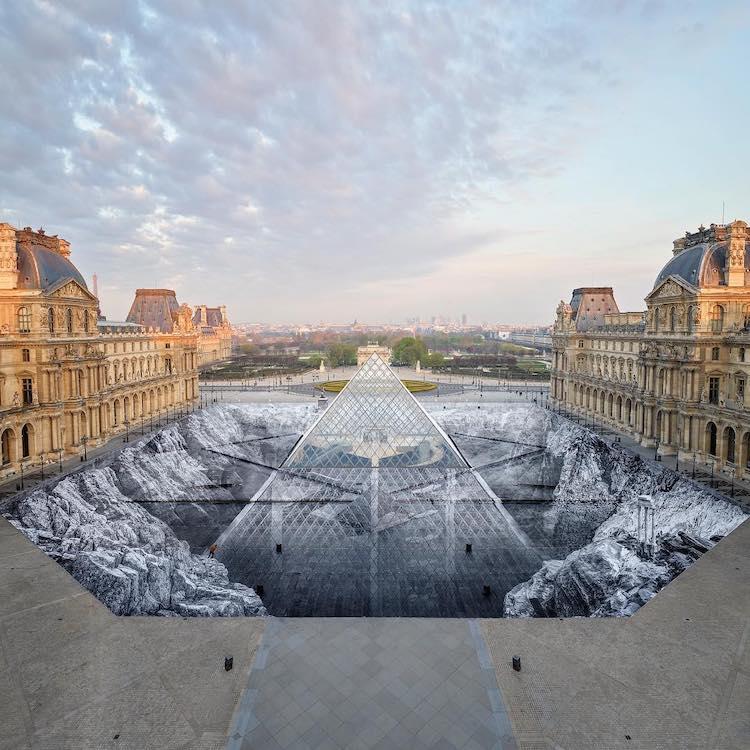 JR Louvre Installation
