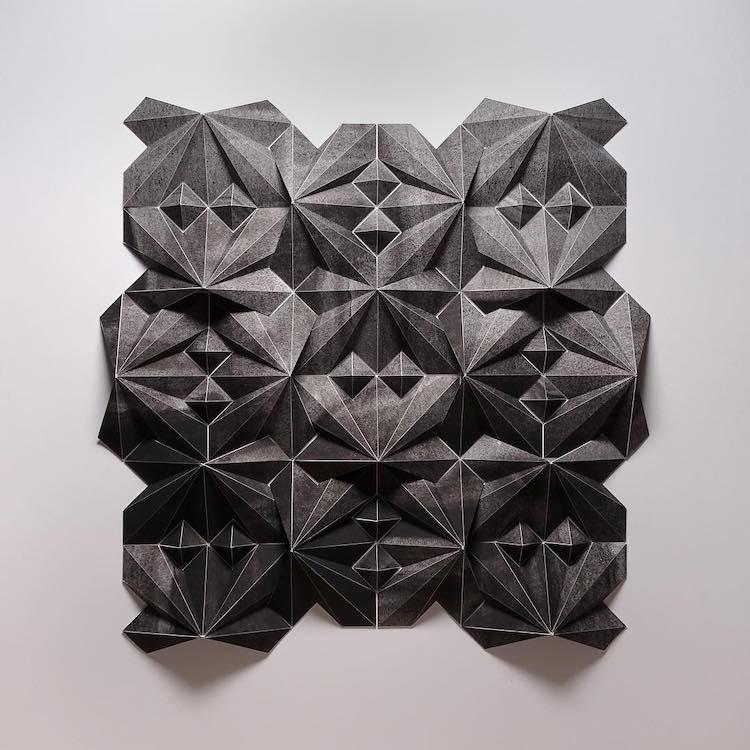 3D Paper Sculpture by Matthew Shlian