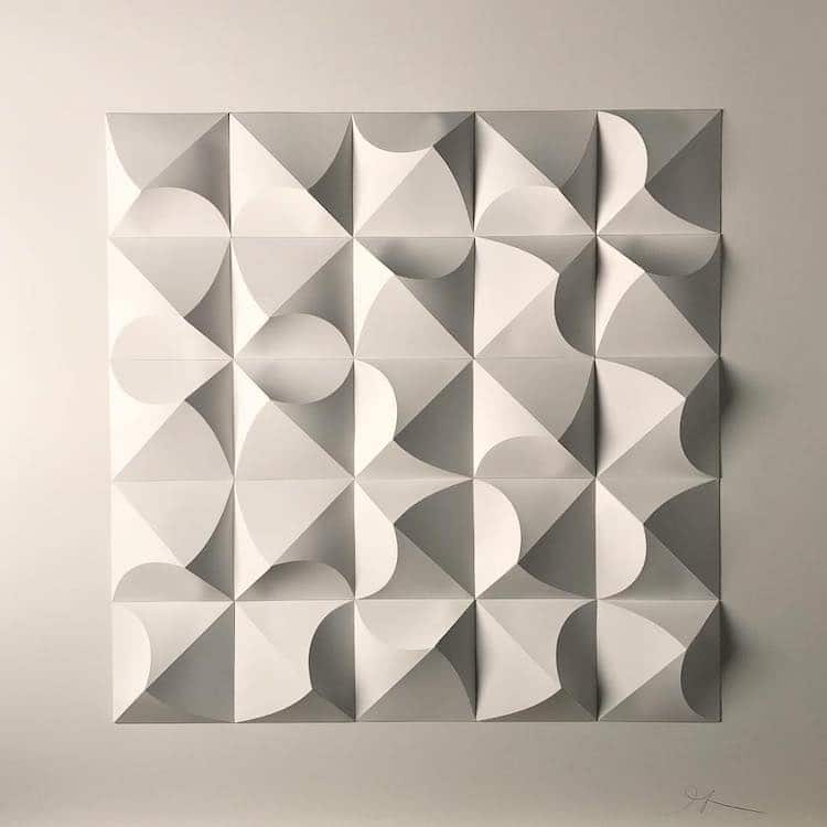 3D Paper Sculpture by Matthew Shlian
