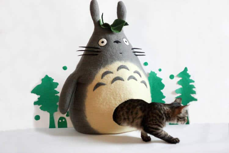 Totoro Cat House by Meow Felt