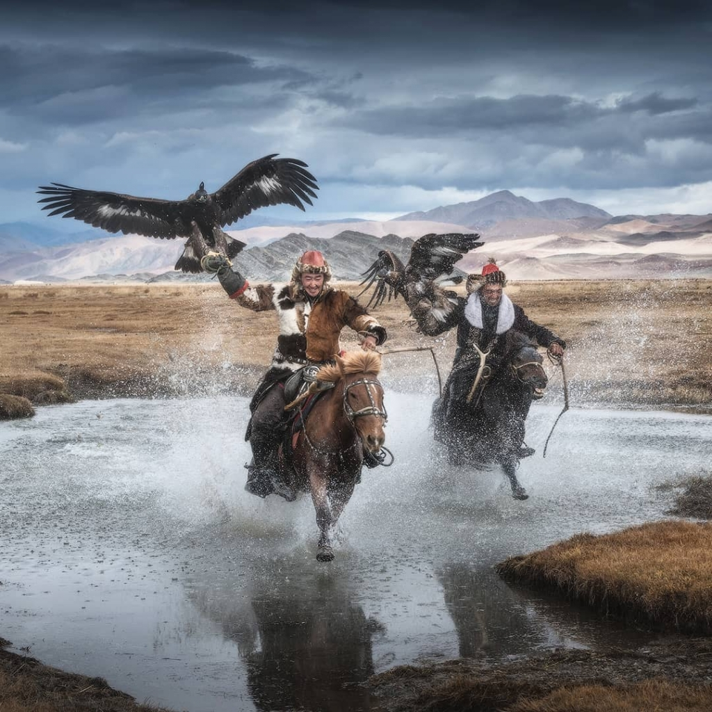 Eagle Hunters in Mongolia by Daniel Kordan