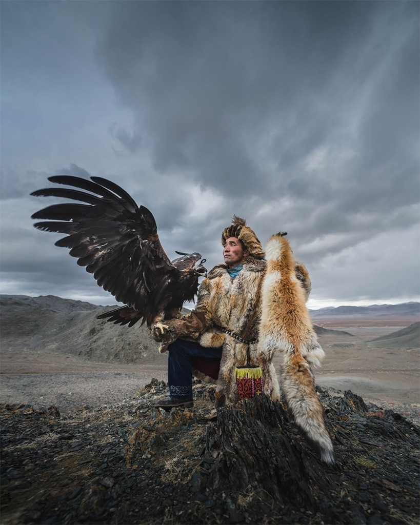 Mongolian Eagle Keepers by Daniel Kordan