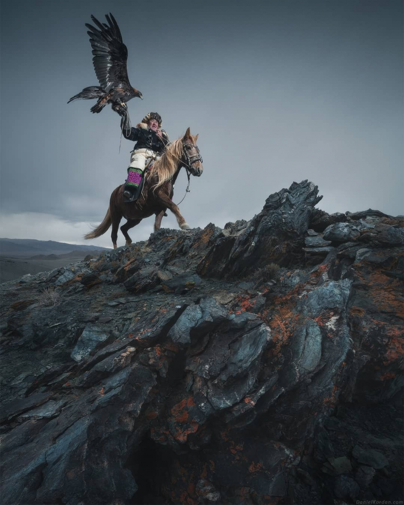 Falconry in Mongolia by Daniel Kordan