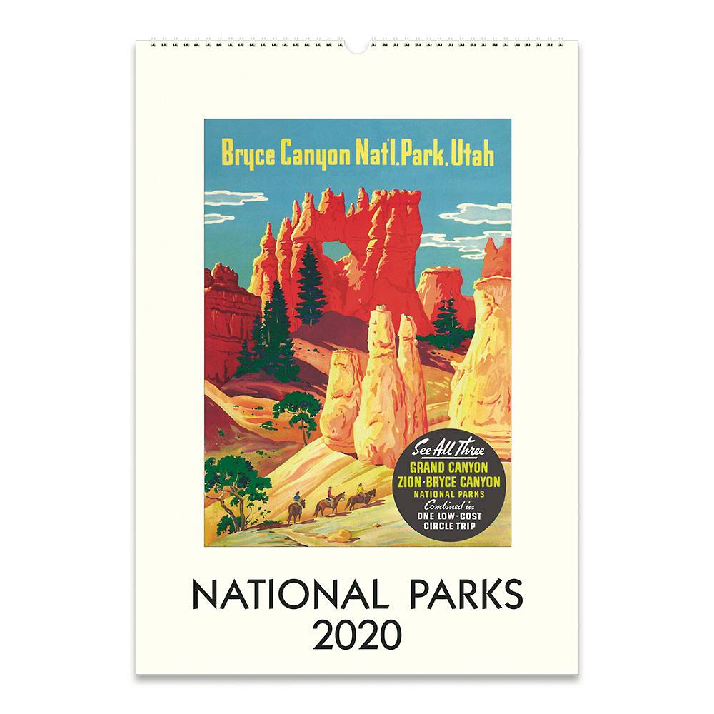 2020 National Parks Wall Poster