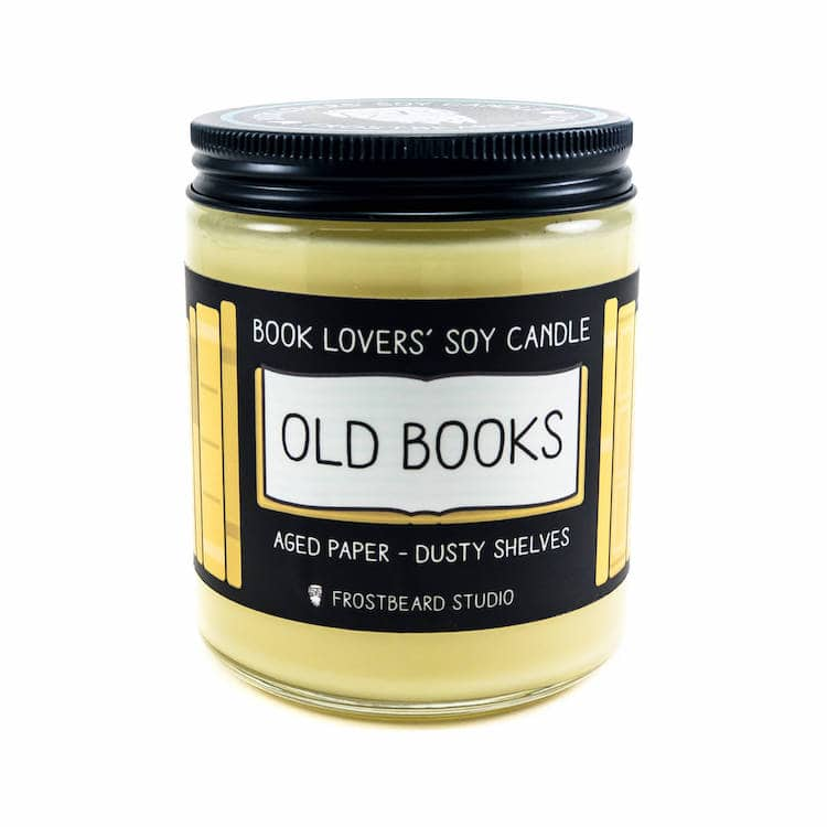 Old Books Candle, an Alternative to Oprah's Favorite Things