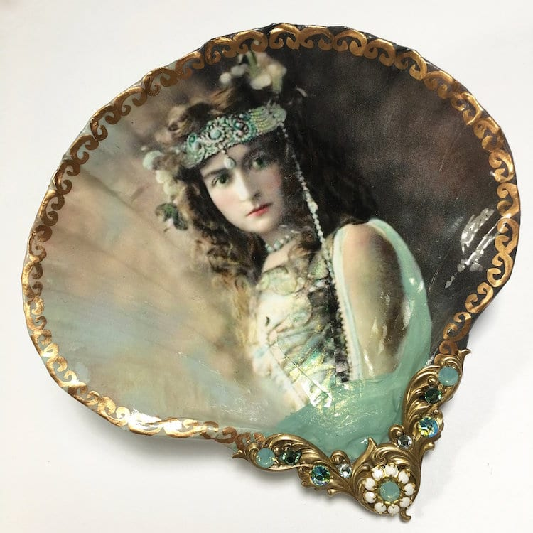 Shell Art Jewelry Dishes by Mary Kenyon