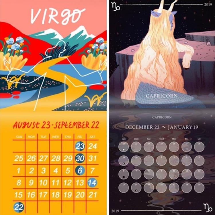 Zodiac 2019 Calendar