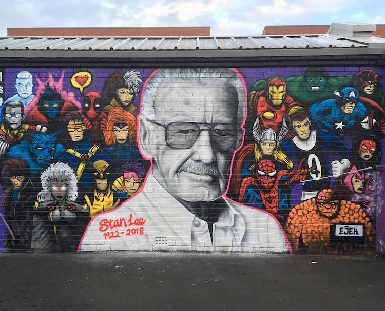 Stan Lee Mural Art by EJEK