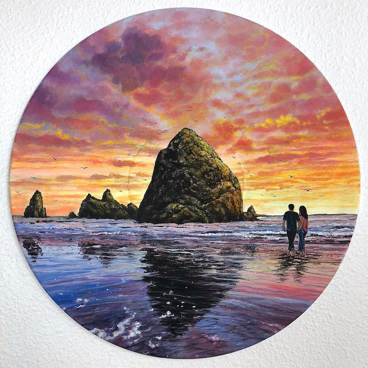 Vinyl Art Landscape Paintings by Feliks Kaparchuk