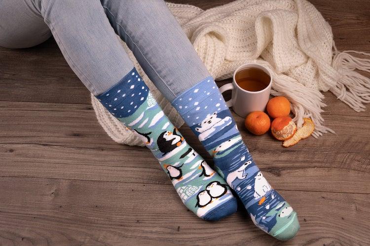 Penguin and Polar Bear Socks
