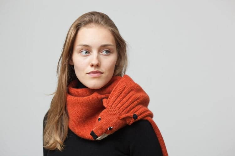 Knitted Fox Stole