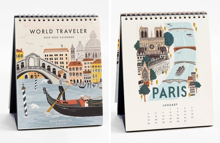 World Traveler 2020 Desk Calendar