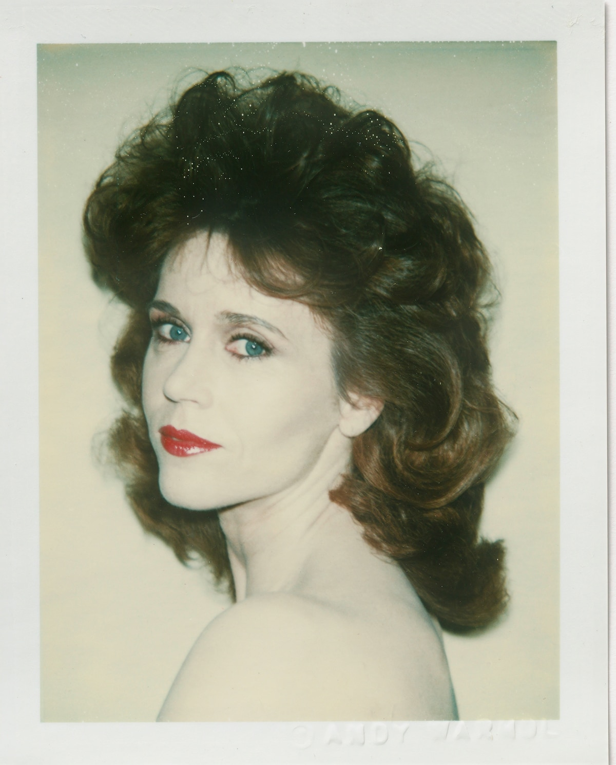 Andy Warhol Polaroid of Jane Fonda