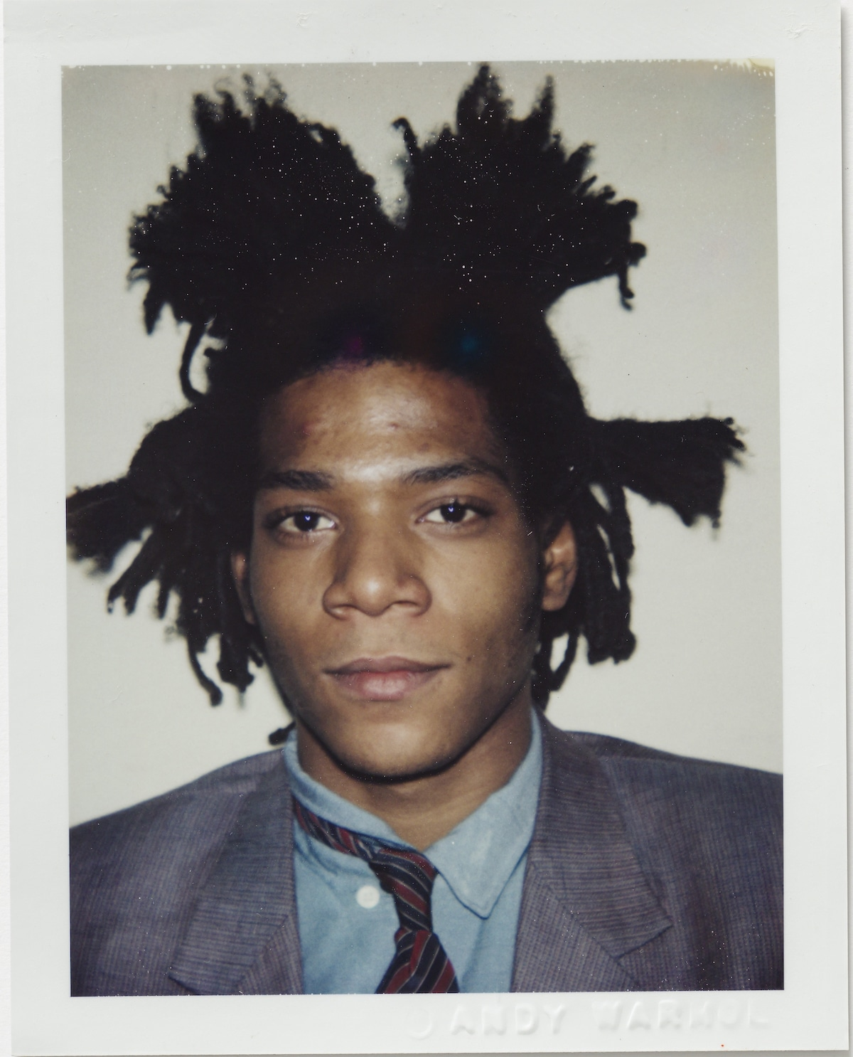 Andy Warhol Polaroid of Basquiat