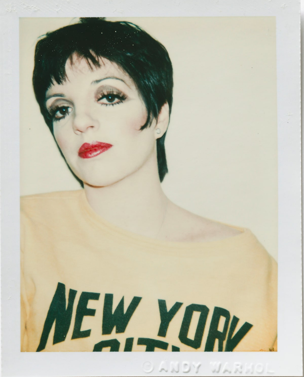 Andy Warhol Polaroid of Liza Minella