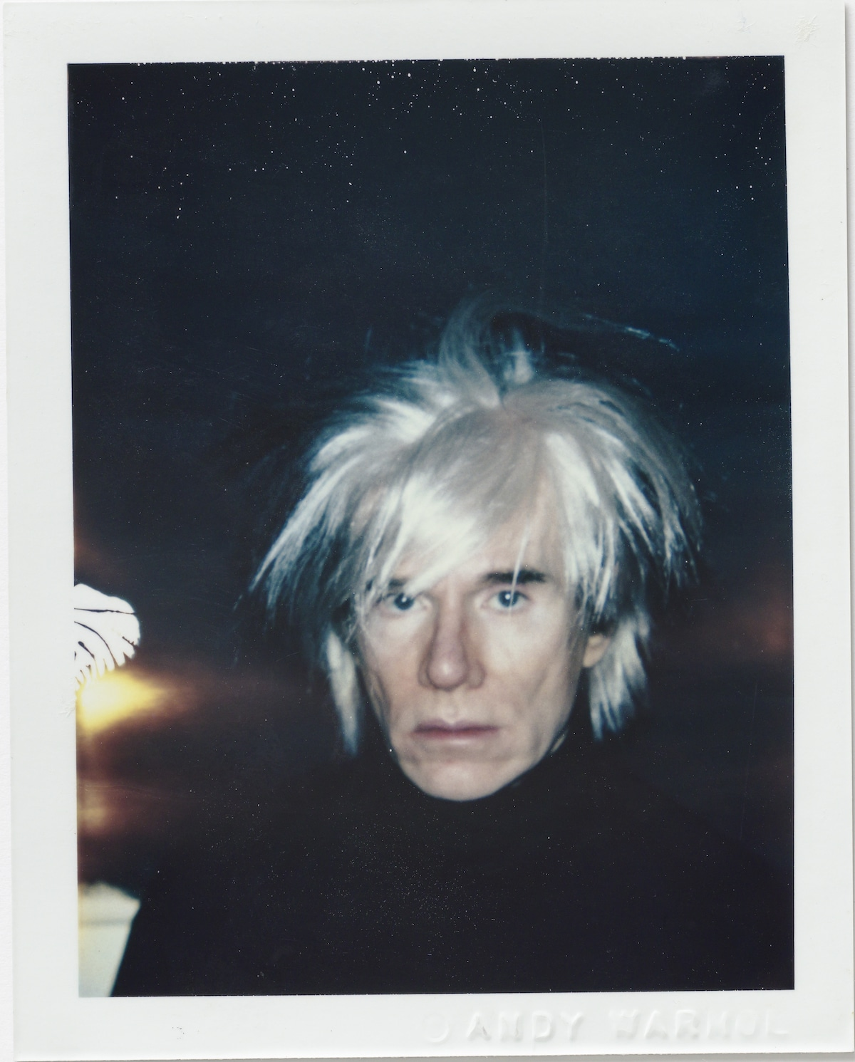 Andy Warhol Self-Portrait with Polaroid