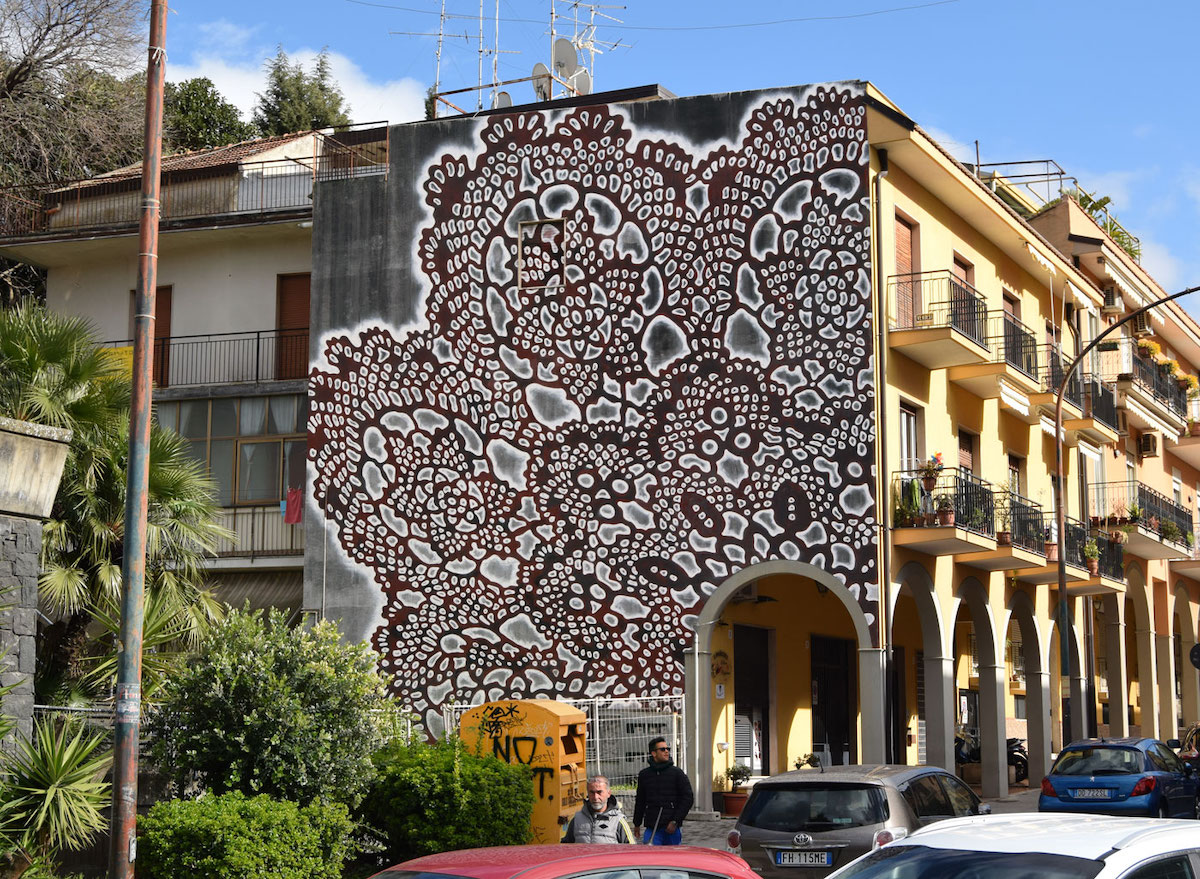 New Lovely Lace Street Art By Nespoon