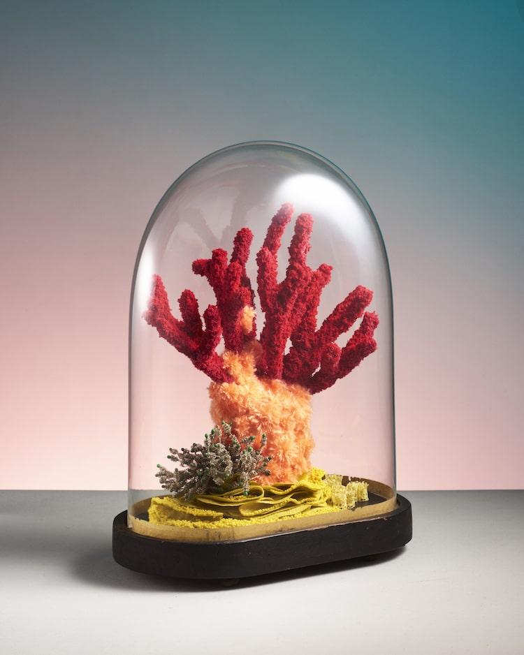 Poumons des Oceans by Aude Bourgine Textile Coral Sculpture