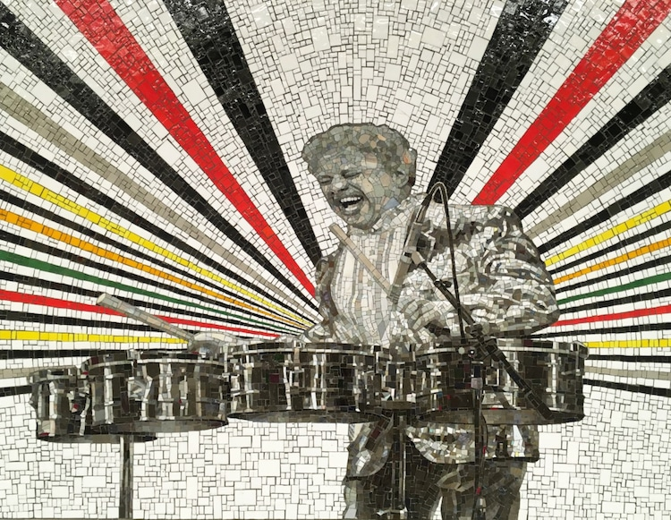 Bronx History Icons Mosaic Murals by Rico Gaston
