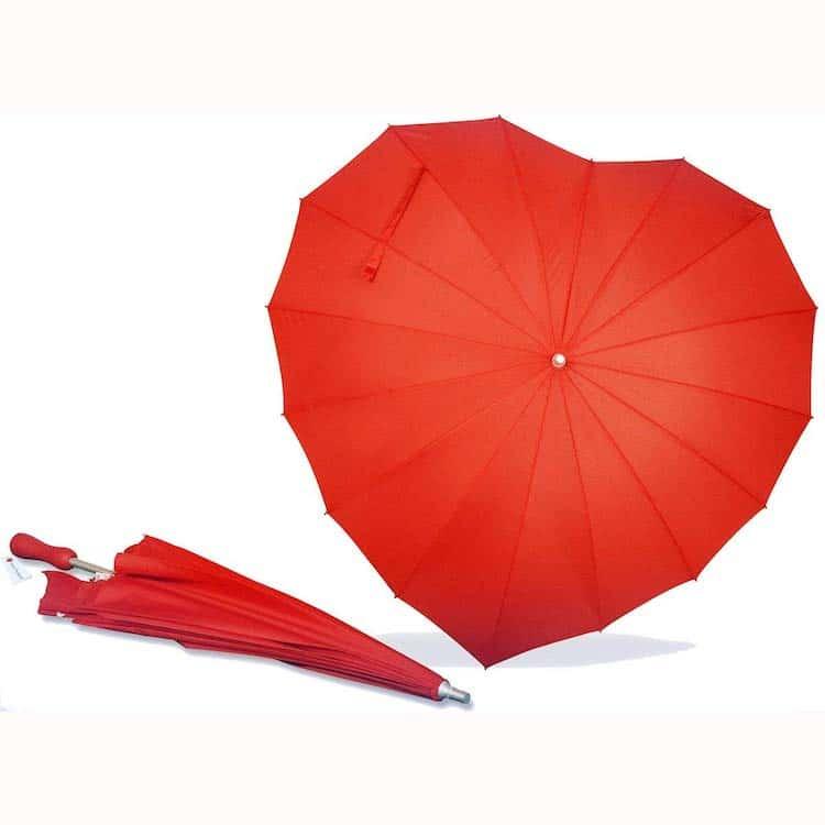 Paraguas de corazón