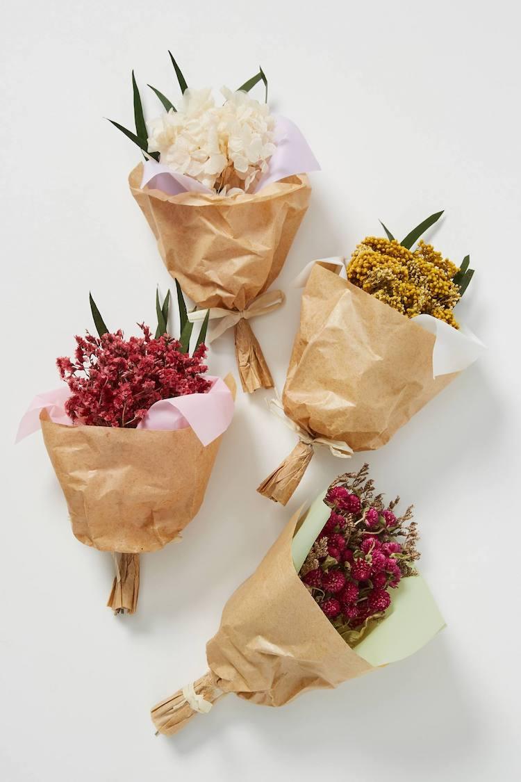 Mini ramo de flores preservadas