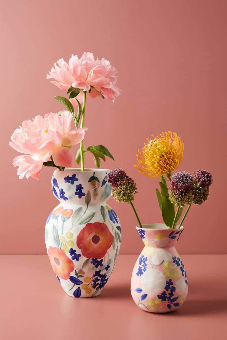 Floral Vases from Anthropologie