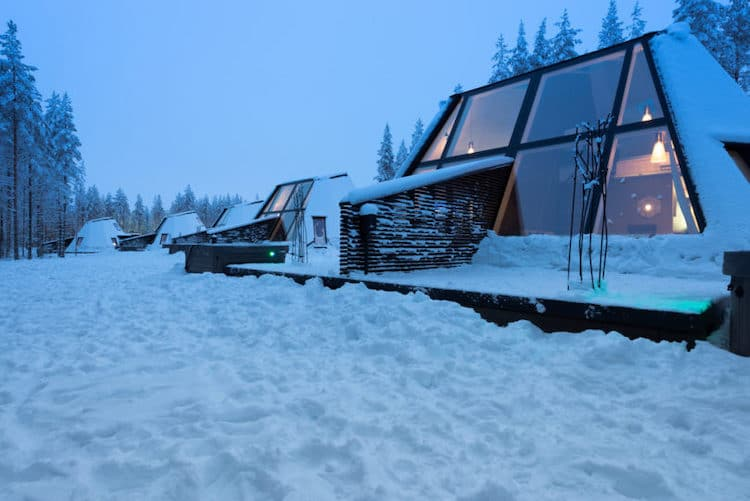 Glass Resort at Santa Claus Village in Rovaniemi, Finland