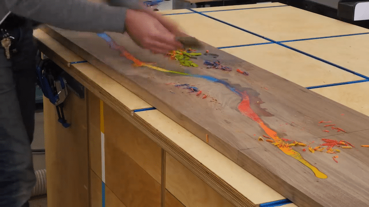 Crayon Inlaid Table by Chris Salomone