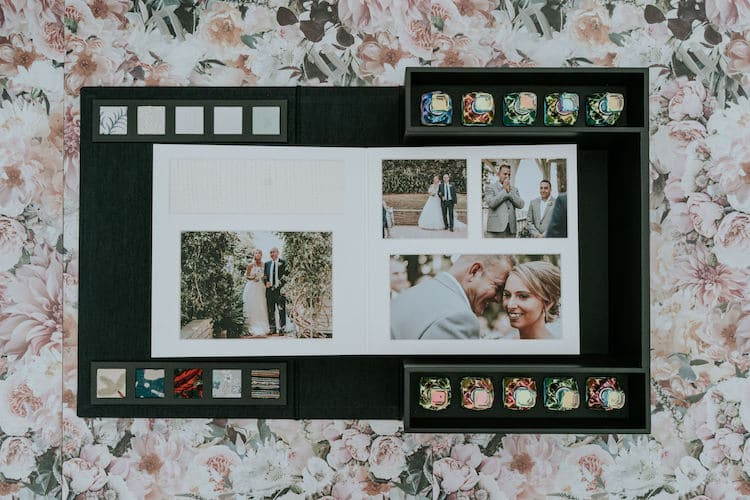 novia invidente álbum de boda multisensorial